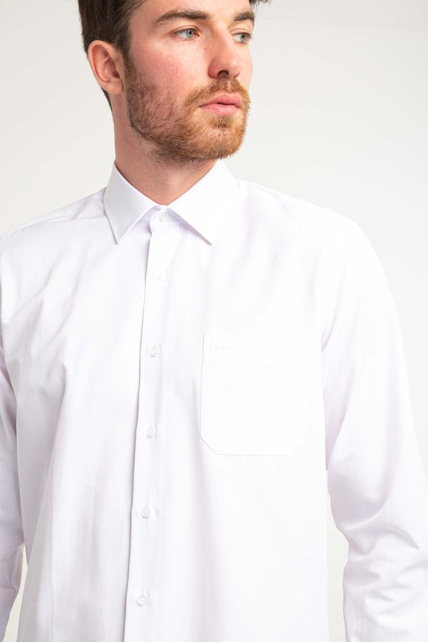 Uzun Kol Klasik Desenli Gömlek