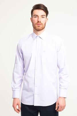 Erkek Giyim - LİLA L Beden Uzun Kol Klasik Desenli Gömlek
