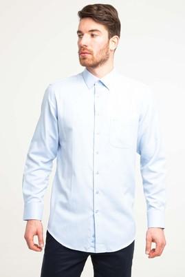 Erkek Giyim - UÇUK MAVİ XXL Beden Uzun Kol Klasik Desenli Gömlek
