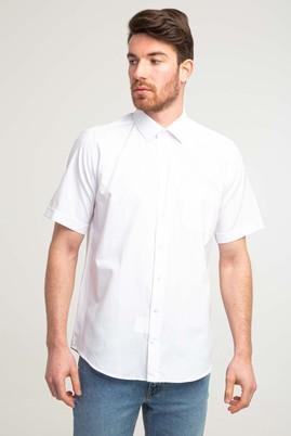 Erkek Giyim - BEYAZ 3X Beden Kısa Kol Klasik Gömlek