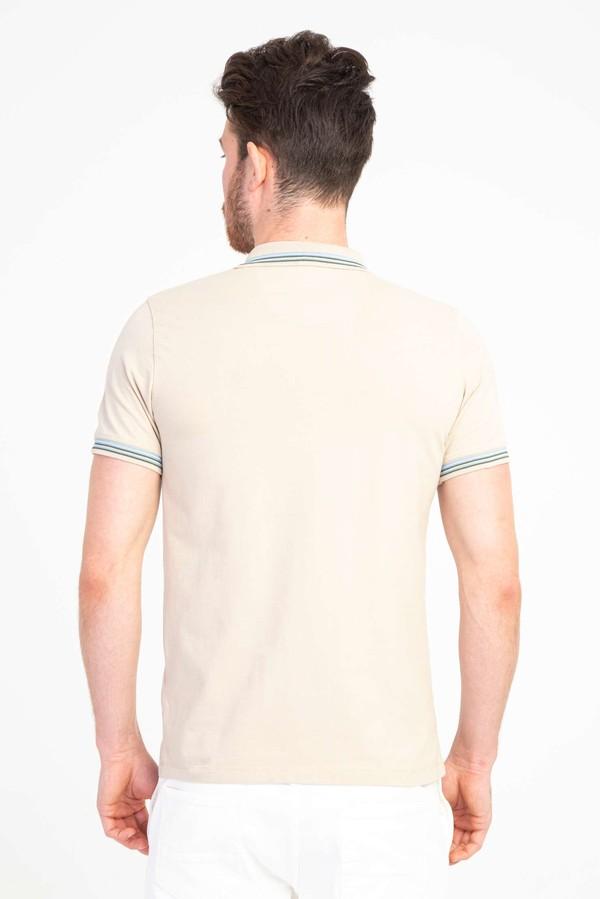 Polo Yaka Nakışlı Slim Fit Tişört