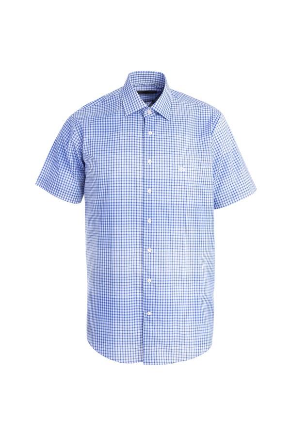 Kısa Kol Regular Fit Kareli Gömlek