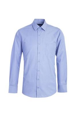 Erkek Giyim - MAVİ M Beden Uzun Kol Klasik Ekose Gömlek