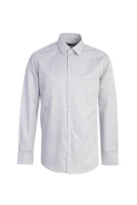 Erkek Giyim - BEYAZ M Beden Uzun Kol Klasik Ekose Gömlek