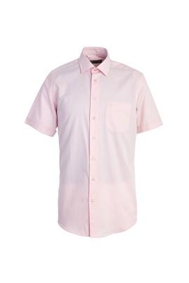 Erkek Giyim - PEMBE M Beden Kısa Kol Regular Fit Gömlek