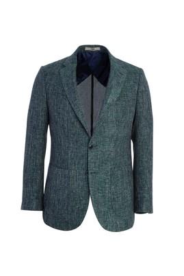 Erkek Giyim - KOYU YEŞİL 46 Beden Spor Desenli Ceket