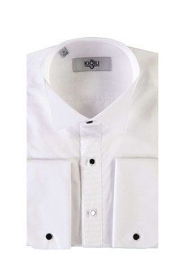 Erkek Giyim - BEYAZ M Beden Ata Yaka Klasik Gömlek