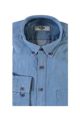 Erkek Giyim - AÇIK MAVİ L Beden Uzun Kol Denim Gömlek