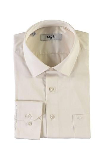 Erkek Giyim - Uzun Kol Saten Klasik Gömlek