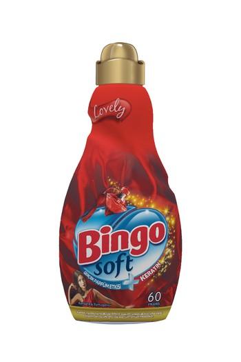 Erkek Giyim - Bingo Soft Konsantre Çamaşır Yumuşatıcısı Lovely 1440 ml