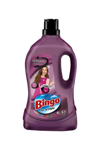 Erkek Giyim - Bingo Çamaşır Deterjanı Onaran Koruma Sıvı Bakım 4 lt