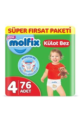 Erkek Giyim -   Beden Molfix 3D Külot Bez, Maxi (4) Beden, 76 Adet