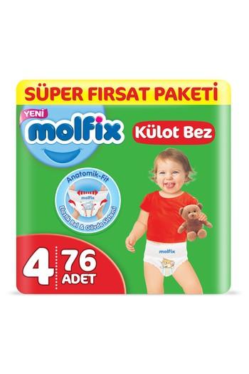Erkek Giyim - Molfix 3D Külot Bez, Maxi (4) Beden, 76 Adet