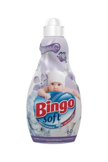 Erkek Giyim - Bingo Soft Konsantre Çamaşır Yumuşatıcısı Sensitive 1440 ml