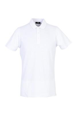 Erkek Giyim - BEYAZ L Beden Polo Yaka Regular Fit Tişört