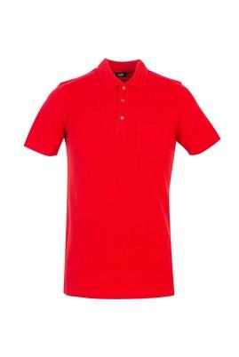 Erkek Giyim - KIRMIZI S Beden Polo Yaka Regular Fit Tişört