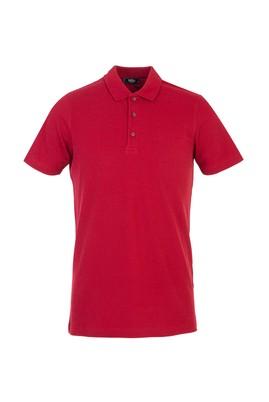 Erkek Giyim - BORDO M Beden Polo Yaka Regular Fit Tişört