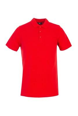 Erkek Giyim - KIRMIZI XL Beden Polo Yaka Regular Fit Tişört