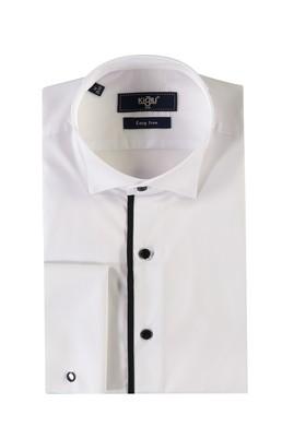 Erkek Giyim - BEYAZ M Beden Ata Yaka Kolay Ütülenir Gömlek