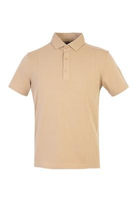 Erkek Giyim - BEJ M Beden Polo Yaka Slim Fit Tişört