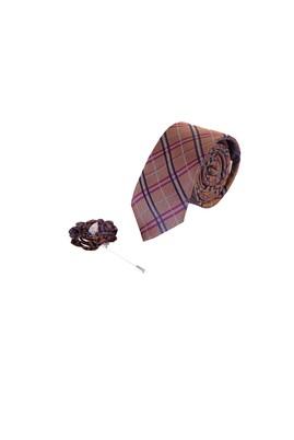 Erkek Giyim - TURUNCU 165 Beden 2'li Kravat Yaka İğnesi Set