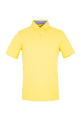 Erkek Giyim - SARI 3X Beden Polo Yaka Slim Fit Tişört