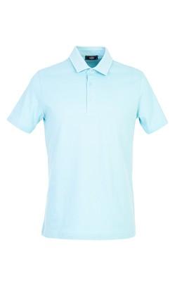 Erkek Giyim - AÇIK MAVİ XXL Beden Polo Yaka Slim Fit Tişört