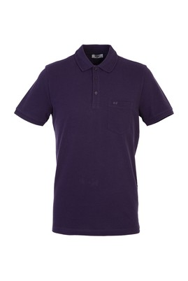 Erkek Giyim - Bordo 3X Beden Polo Yaka Regular Fit Tişört