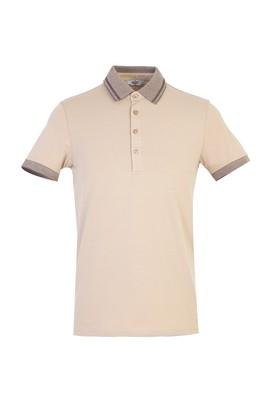 Erkek Giyim - BEJ XS Beden Polo Yaka Slim Fit Tişört