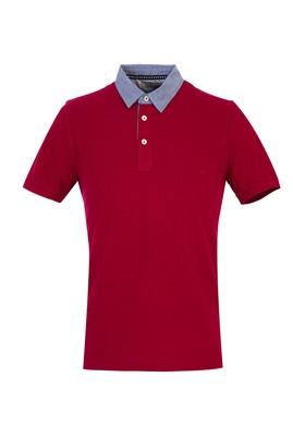 Erkek Giyim - Bordo L Beden Polo Yaka Regular Fit Tişört