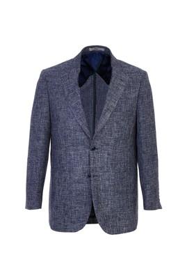 Erkek Giyim - KOYU MAVİ 54 Beden Spor Desenli Ceket
