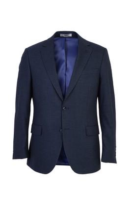 Erkek Giyim - KOYU MAVİ 52 Beden Klasik Kuşgözü Ceket