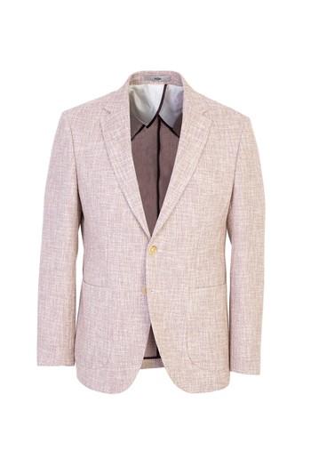 Erkek Giyim - Yünlü Desenli Spor Ceket