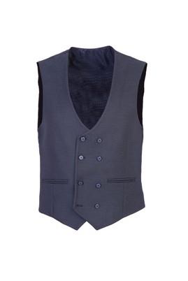 Erkek Giyim - MAVİ 60 Beden Kruvaze Kuşgözü Yelek