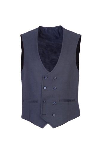 Erkek Giyim - Kruvaze Kuşgözü Yelek