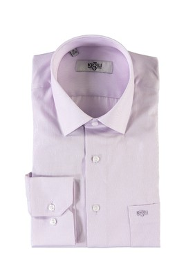 Erkek Giyim - LİLA XL Beden Uzun Kol Desenli Klasik Gömlek