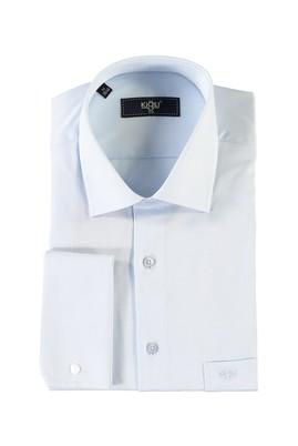 Erkek Giyim - MAVİ M Beden Uzun Kol Manşetli Gömlek