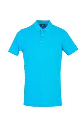 Erkek Giyim - TURKUAZ L Beden Polo Yaka Regular Fit Tişört