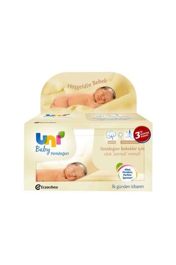 Erkek Giyim - Uni Baby Yenidoğan Havlu 3X40'lı
