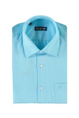 Erkek Giyim - TURKUAZ XL Beden Kısa Kol Desenli Klasik Gömlek