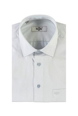 Erkek Giyim - ACIK YESIL XL Beden Kısa Kol Klasik Gömlek