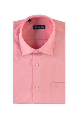 Erkek Giyim - PEMBE M Beden Kısa Kol Desenli Klasik Gömlek