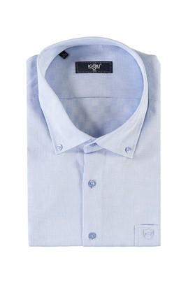 Erkek Giyim - MAVİ 7X Beden King Size Kısa Kol Spor Gömlek