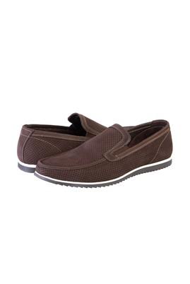 Erkek Giyim - KAHVE 44 Beden Nubuk Loafer Ayakkabı