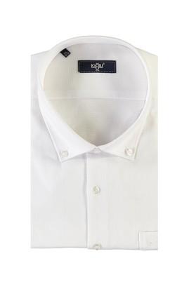 Erkek Giyim - BEYAZ 5X Beden King Size Kısa Kol Spor Gömlek