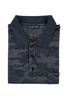 Erkek Giyim - LACİVERT 5X Beden King Size Polo Yaka Tişört