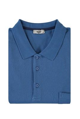 Erkek Giyim - MAVİ 4X Beden King Size Polo Yaka Tişört