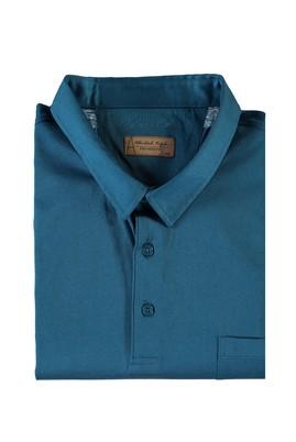 Erkek Giyim - PETROL 5X Beden King Size Polo Yaka Merserize Süprem Tişört