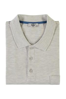 Erkek Giyim - ORTA FÜME 5X Beden King Size Polo Yaka Tişört
