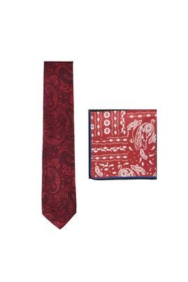 Erkek Giyim - KIRMIZI  Beden 2'li Kravat Mendil Set
